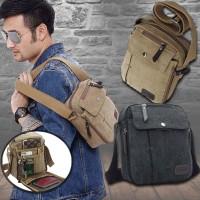 harga tas pria canvas import / men's travel bag canvas Tokopedia.com
