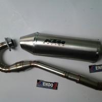 harga Knalpot Racing KTM Fullsystem Leher Las Cacing Kawasaki KLX 150S/L/BF Tokopedia.com