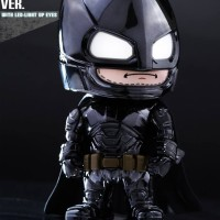 Hottoys Cosbaby Armored Batman Black Chrome Ver.