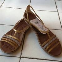 SENDAL WANITA ISABELLA ISABELA FLAT CROCS Sandal HUARACHE TREPES