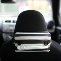 Tissue Box / Tempat Tisu Mobil Stripe WhieBlack