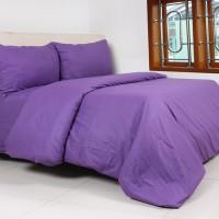 harga Sprei Dan Bed Cover Katun Polos Ungu Ukuran 160 x 200 Tokopedia.com