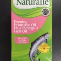 NATURALLE EVENING PRIMROSE OIL EPO PLUS OMEGA 3 FISH OIL 30'S