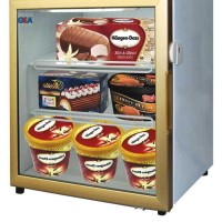 UP RIGHT GLASS DOOR FREEZER / GEA LSD-55 / SHOWCASE ICE CREAM