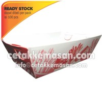 Papertray Piring Kertas uk 9 x 5.5 x 3.5 cm Foodgrade