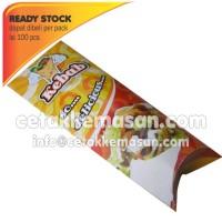 Bungkus dus box Kemasan Kebab uk 8.5 x 23.5 cm Cetak Full Color