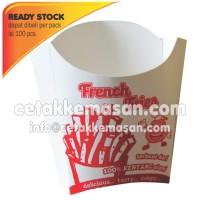 Kantong Dus Box Kentang French Fries uk 8x11x3 cm Foodgrade