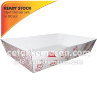 Papertray Piring Kertas uk 16.5 x 10.5 x 3.5 cm Foodgrade