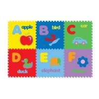 Karpet Evamat 30 x 30 cm - Huruf Abjad Alfabet Gambar (Puzzle Evamats)