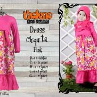 Dress Chiquita dengan Jilbab/ Gamis Anak/ Baju Muslim Anak/Gamis/Dress