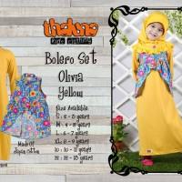 Gamis Olivia dengan Jilbab (S, M, L, XL)/ Gamis Bolero Bunga Anak