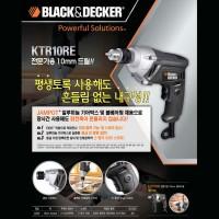 Mesin Bor Besi 10mm Kayu 20mm KTR 10 RE Black & Decker Reversible