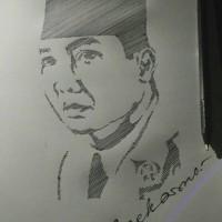 Jual Sketsa Wajah Soekarno Linesketch Kota Bekasi Sketch Order Tokopedia