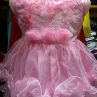 Gaun / Dress Pesta Bayi / Anak - motif brukat susun