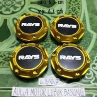 harga dop center / roda velg rays gold model racing kaki 6,3 cm (set=4) Tokopedia.com