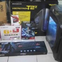SET FULL PC Gaming High-End Hemat AMD A8-7600 + Monitor AOC 19Inch