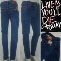 Celana jeans PSD. Slimfit/pensil, biowos, laki-laki.