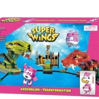 MAINAN ANAK - BLOCKS SUPER WINGS 420 PCS - 161152 (PINK)