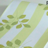wallpaper sticker wallpaper dinding bunga hijau