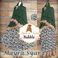 MAYRA SYARI BUBBLE Baju Gamis Muslim Wanita Set Khimar