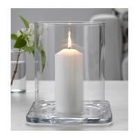 IKEA GLASIG Tempat Lilin Kaca Lentera 22 cm