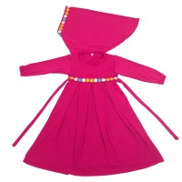 Baju Muslim Gamis Anak Perempuan Warna Pink Lucu Simple