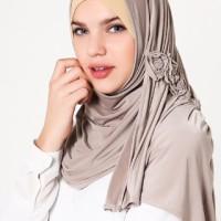 Jilbab Instan Katarina Pashmina Mocca Dusty