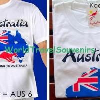 oleh oleh kaos peta kangguru dari australia