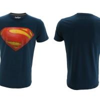 Jual Kaos Superhero TopGear Superman Man Of Steel Logo Version Blue Murah