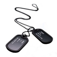 Kalung Cowok Pria Army Military Men Dog tag Men Necklace Dogtag