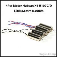Jual 4Pcs Spare Parts Motor for Hubsan X4 H107C H107D 8.5x20mm Murah