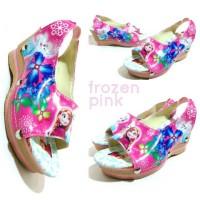 Wedges FROZEN Pink / Sepatu Anak Hak Tinggi / Sepatu Sandal FROZEN PINK