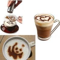 cetakan gambar bubuk kopi latte capuccino patern coffe mold murah