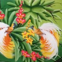 harga Lukisan Burung Cendrawasih (Burung Surga Kayangan) 80x60 Model H Tokopedia.com