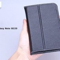 Samsung Galaxy Note 1 N7000 leather case Yoobao (HITAM)