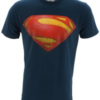 Jual Kaos/Baju Distro Superhero Superman Man Of Steel Logo Version Blue Murah