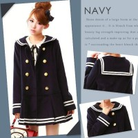 Loli Sailor Skirt Jacket Seifuku Seragam Jepang Jaket Cosplay