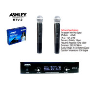 Murah !!! Microphone Mic Wireless Ashley Ktv 2 Professional
