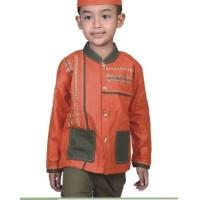 Baju Koko Anak Laki-Laki Cotton Orange Catenzo Jr  CBV 105 Bonus Peci