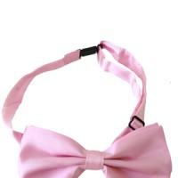 Jual Dasi Kupu BOW TIE SATIN Pink Muda. Bahan Polyster Murah