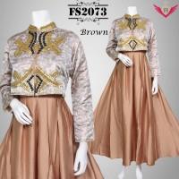 baju muslim model terbaru 2016 cokelat, baju gamis modern, longdress