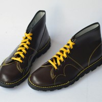 Grafters Retro Monkey Boots - Wine Red 9UK