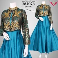 baju muslim model terbaru 2016 toska , baju gamis modern, longdress