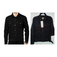 Jual Jaket jeans Levis 501. Reguler, hitam pekat, laki-laki. Murah
