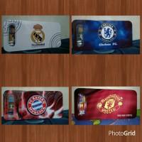 Kotak Pensil Karakter Bendera bola RM, MU, Chelsea, Bayern Munchen