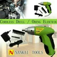 Nankai Cordless Screwdriver - Obeng Bor Tangan Elektrik