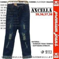 Soft Jeans Stretch Super Bigsize Axcella Sobek Tdk Tembus