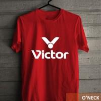 Kaos Distro Olahraga Badminton Motif Raket VICTOR Murah