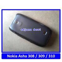 Silikon Microsoft Nokia Asha 308 309 310 Soft Jelly Cover Case Hitam