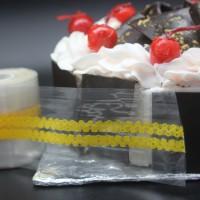 Plastik roll motif cake/ plastik samping kue 25 Meter